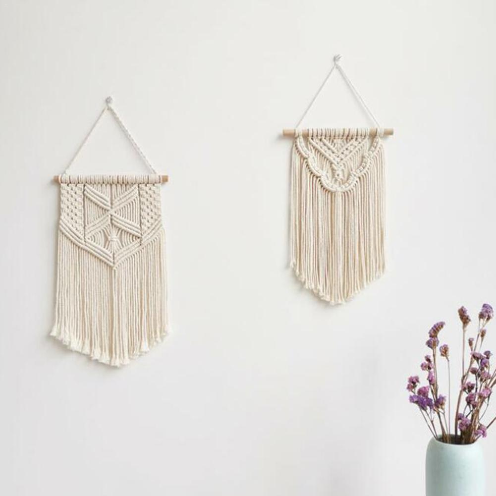 Macrame Wall Hanging Bohemian Style Hand-woven Cotton Rope Tapestry Home Wedding Bedroom Appartement Decoration Wall Macrame