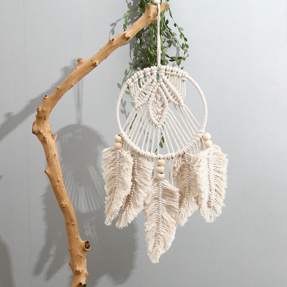Handmade Woven Dream Catcher Boho Wall Hanging Macrame Home Ornament Gift For Apartment Bedroom Living Room Decor