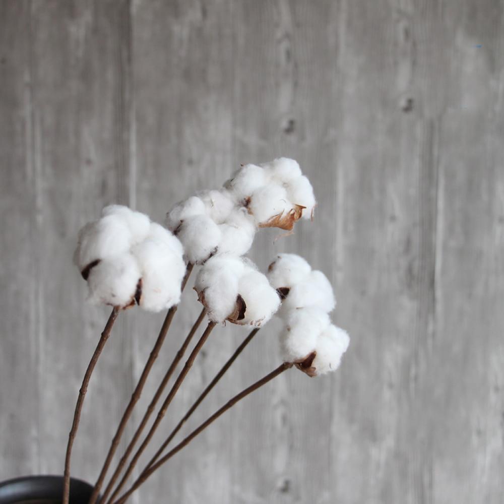 10pcs dried artificial flower bouquets dried cotton branch flower bouquets for home decoration