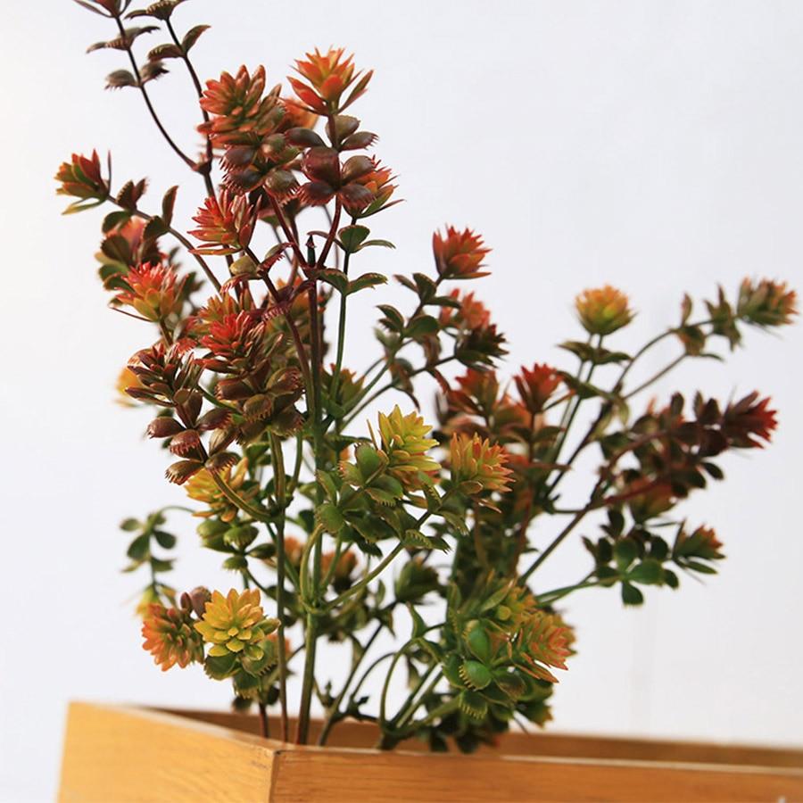 Artificial Plastic Succulent Plant Fake Leaves DIY Autumn Decoration Wreath Accessories Artificial Eucalyptus Home Wedding Decor