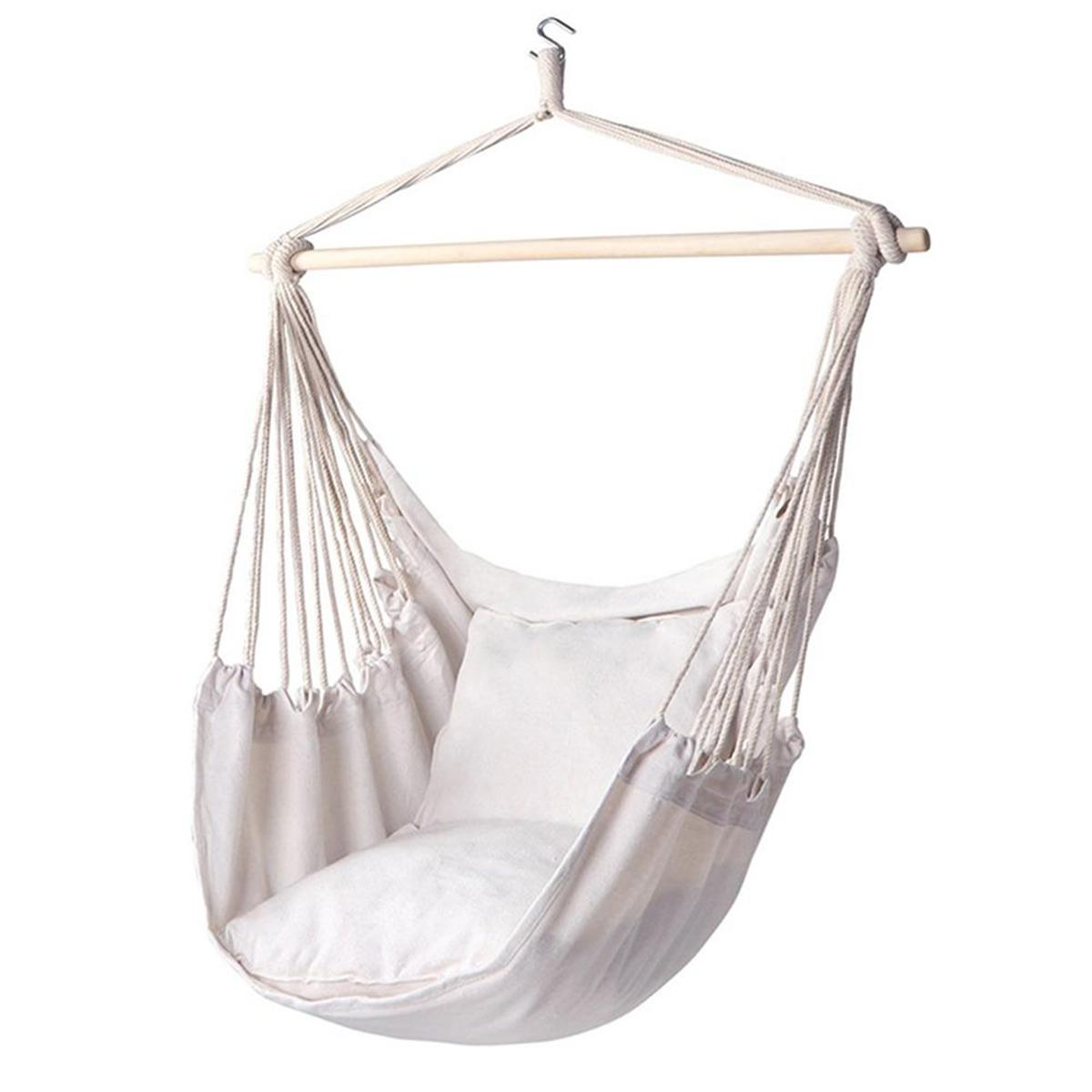 160 kg Hammock Portable Hanging Chair Swing Chair Seat with Pillow for Garden Indoor Outdoor Single Safety Chair For Child Adult