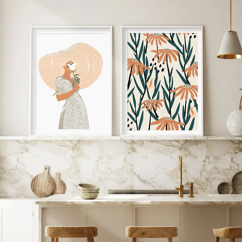 Abstract Geometry Bohemia Flower Dream Poster Canvas Painting Wall Art Prints Picture Living Room Bedroom Home Decor No Frame