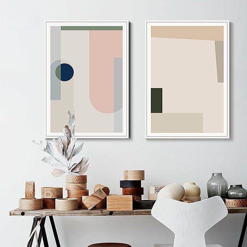 Abstract Geometric Scandinavia Canvas Paintings Posters and Prints Nordic Wall Art Picture for Living Room Office Home Decor