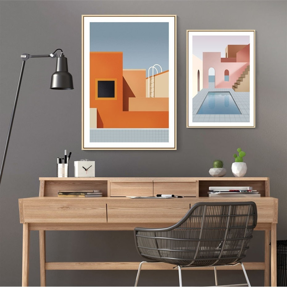 Abstract Still Life Scandinavia Geometric Wall Art Canvas Painting Posters and Prints Pictures for Dining Room House Decor