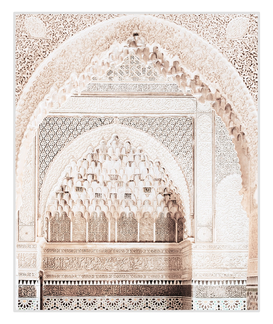 Bohemia Style Moroccan Beige Architecture Travel Poster Canvas Paintings Wall Art Prints Picture for Living Room Home Decoration