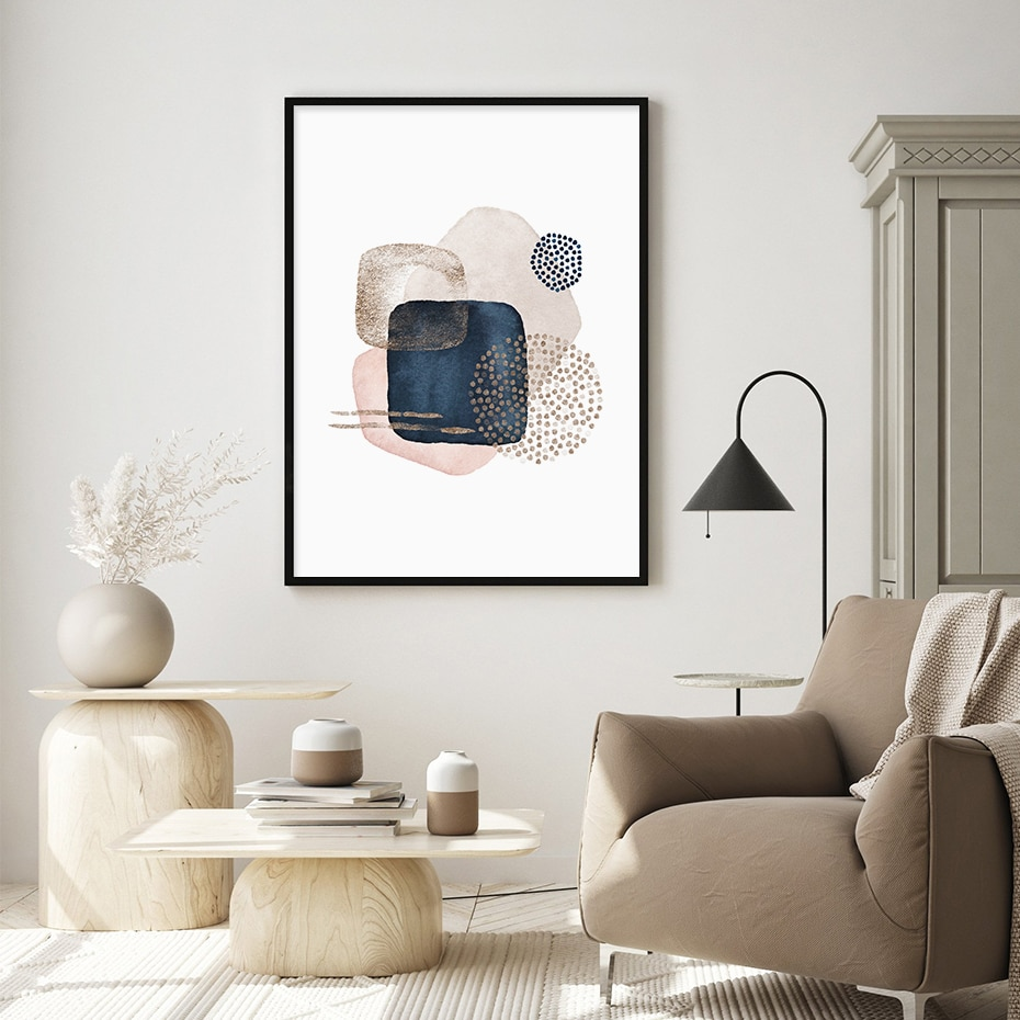 Prussian Series Abstract Wall Art Poster Prints