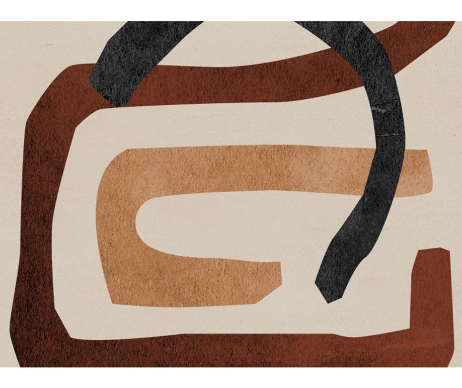 Black & Orange Series Abstract Wall Art Poster Prints
