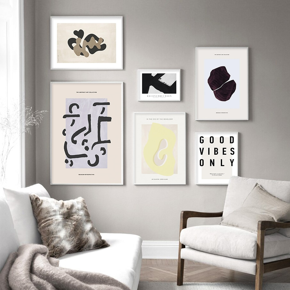 Vintage Abstract Art Colliction Sketch Figure Line Canvas Painting Wall Poster Print Picture for Living Room Home Decoration
