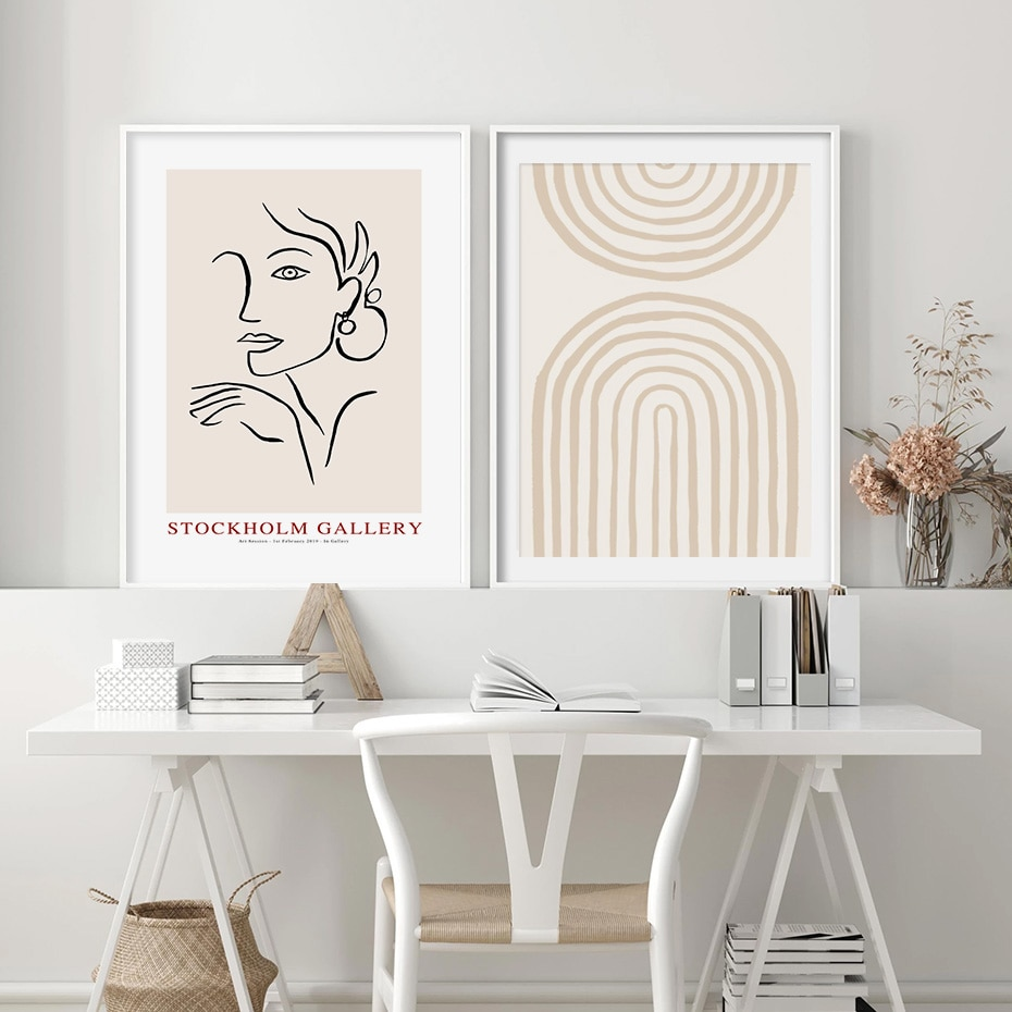 Neutral Series Abstract Wall Art Poster Prints