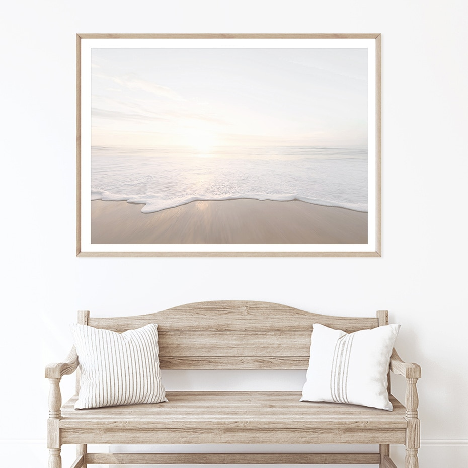 Abstract Silhouette Ocean Landscape Floral Prints