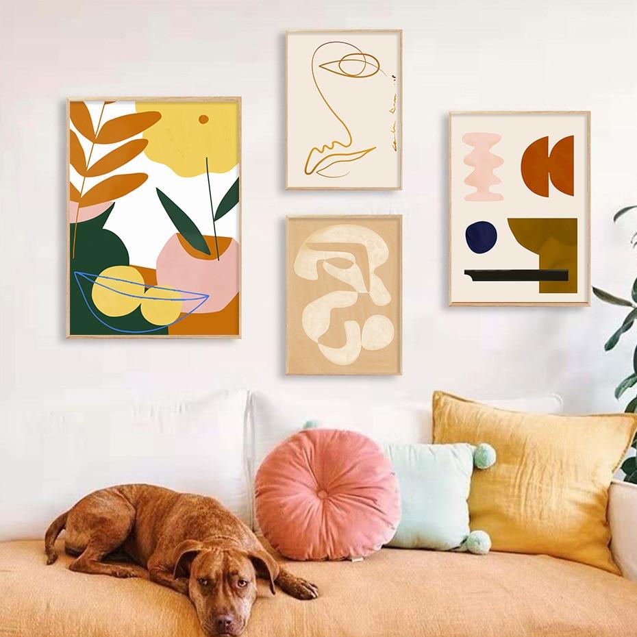 Tropical Plants Abstract Wall Art Poster Prints