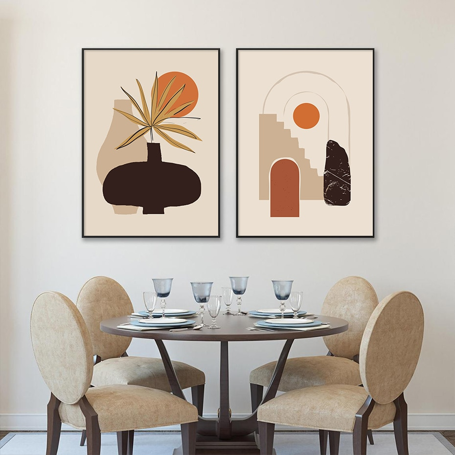 Mediterranean Sun Series Stylised Wall Art Poster Prints