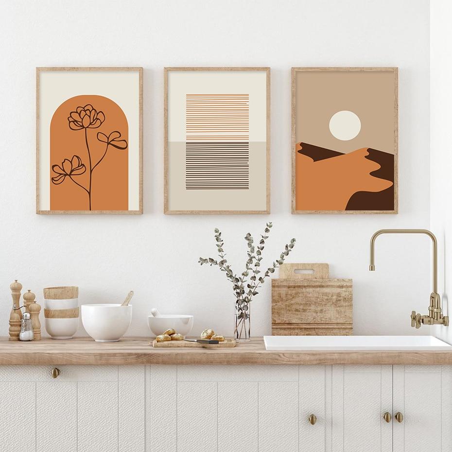 Bronze Series Stylised Line Art Poster Prints