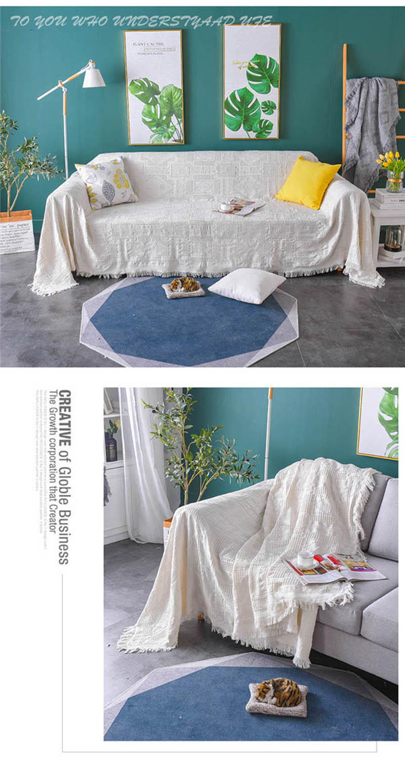 Knitted Bed Couch Decor Blanket Office Respite Plaid Wraps Cape Baby Sleeper Cover Comforter 130*180/180*230cm