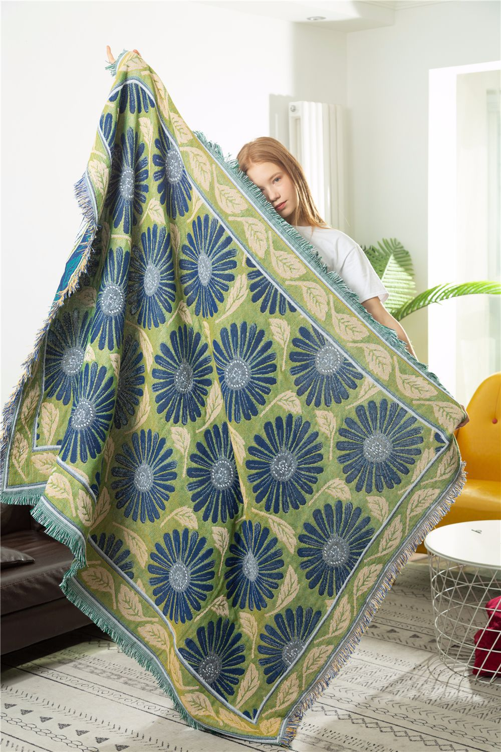 Geometry Home Couch Armchair Blanket Sofa Cover Cobertor Hanging Tapestry for Living Room