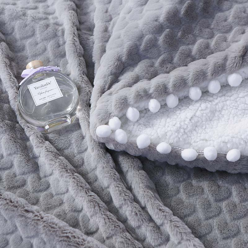 Soft Home Blanket With Small Ball Mink Fleece Bedspread Two-Layer Baby Bedding Sheet Kids Student Sleeper Quilt Comforter