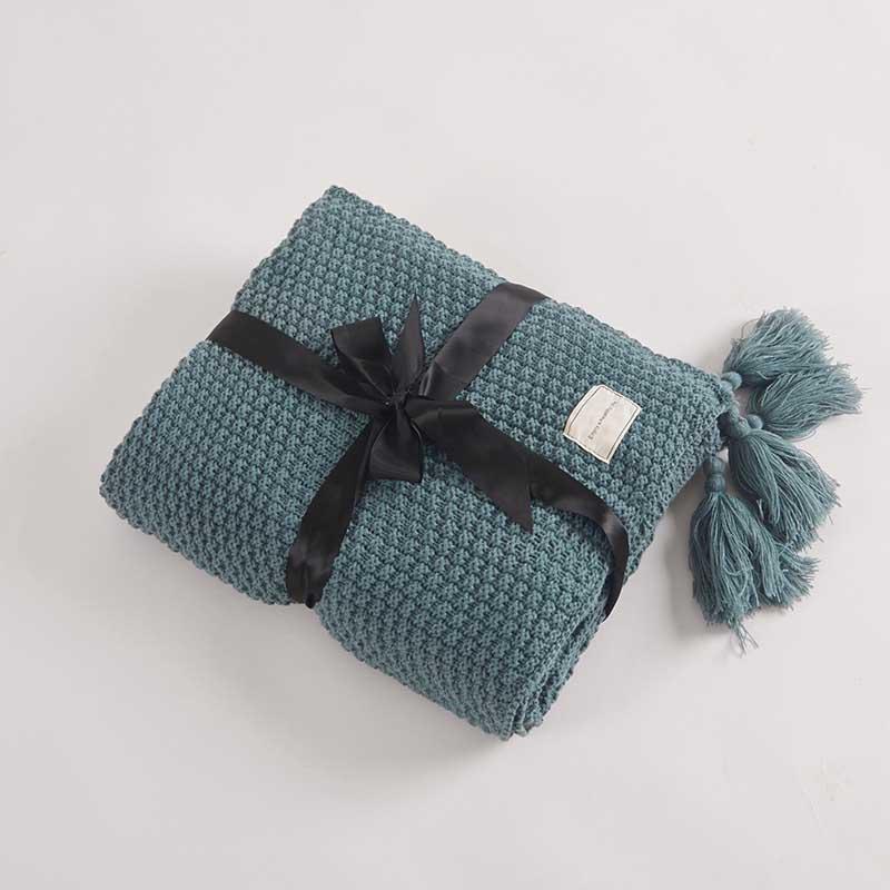 Home Tassel Blanket Women Office Plaid Tippet Crochet Sofa Couch Cover Quilt Baby Bedding Sheet
