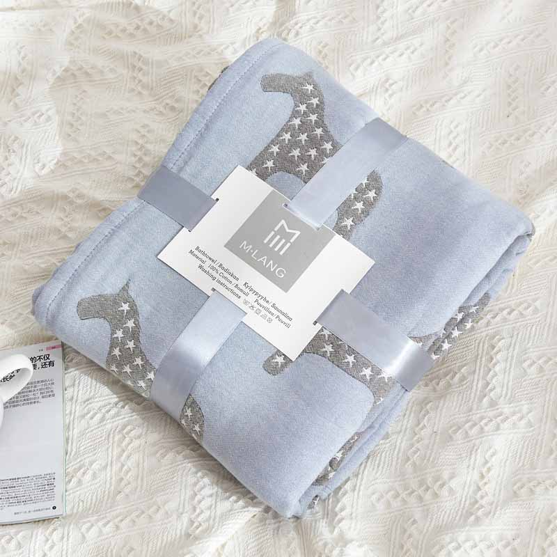 Grid Couch Armchair Knitted Blanket Coverlet Home Warm Bed Cover Bedspread Office Bench Quilt Plaid