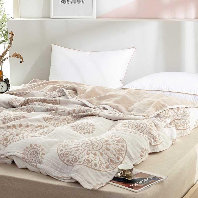 Cotton Gauze Chaise Longue Recliner Blanket  Office Siesta Travel  Plaid Kids Bedsheet