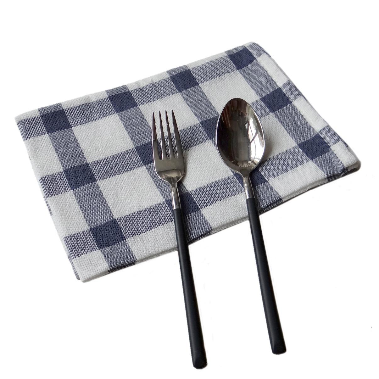 5pcs/lot Cotton Stripe Grid Table Napkins Home Kitchen Tea Towel Absorbent Dish Cleaning Towels