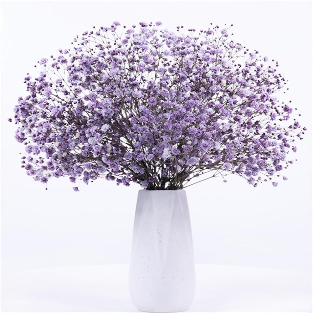 100g Red babysbreath flowers wedding bridal bouquet natural dried babies breath flowers bouquets Vase Not Included