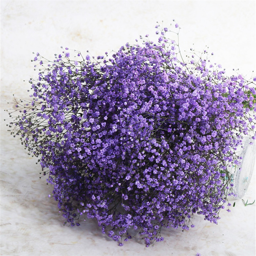 7 Colors real touch flowers for wedding bridal bouquet natural dried babies breath flowers bouquets