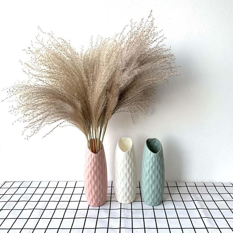 Nordic style Flower Basket Flower vase Origami Plastic Vase mini bottle Imitation Ceramic Flower Pot decoration home