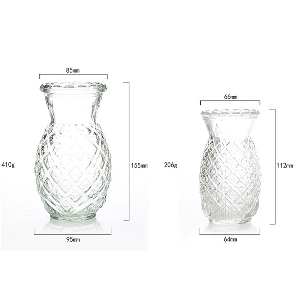 1 pc Transparent glass bud vase pineapple vase for weddings events decorating arrangements flowers Flowers Not Included