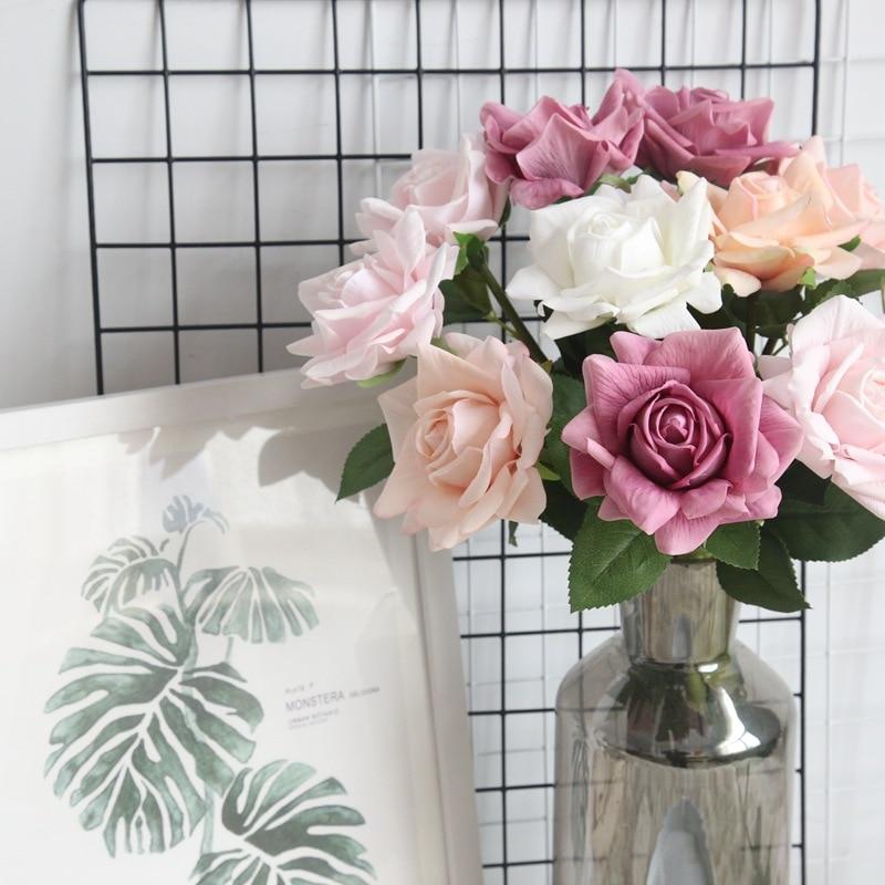 Artificial Solid Colour Rose Flower