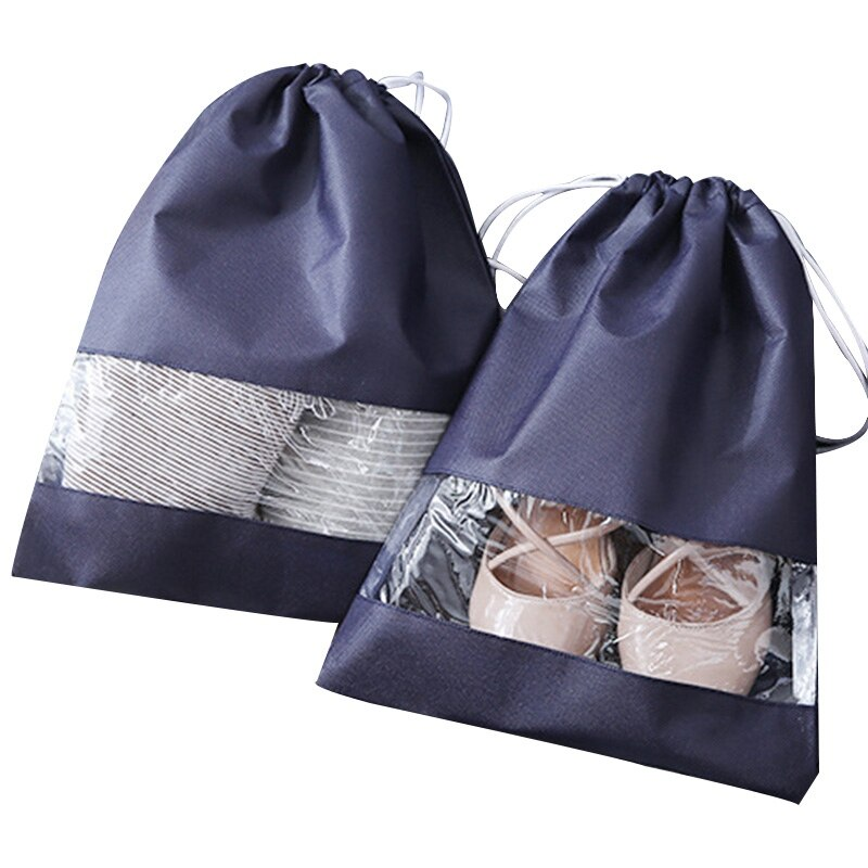 Newest Waterproof Shoes Bag Pouch Storage Travel Bag Non-Woven Laundry Organizador Portable Tote Drawstring Bag Organizer Cover
