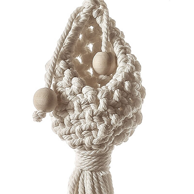 Macrame Hanging Baskets Planter Pot Holder Bohemian Flower Pots Hanger Net Handmade Woven Wall Tapestry Nursery Decorations