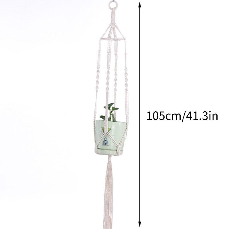 Hanging Basket Net Bag Woven Flower Pot Cotton Rope Creative Flower Pot Net Bag Hanging Basket Household Garden Ornament