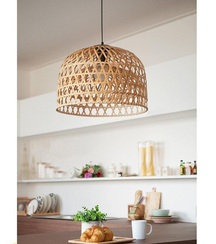 Arturest Hand-woven Wicker Bamboo Pendant Light For Kitchen lights living room indoor decoration chandelier rattan pendant Lamp