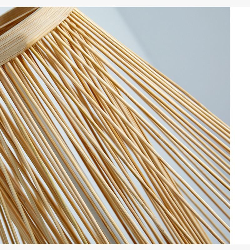 Modern bambo pendant lights Bamboo lamp Asia Restaurant Hotel pendant lamps for living room hanging kitchen lamp Fixtures