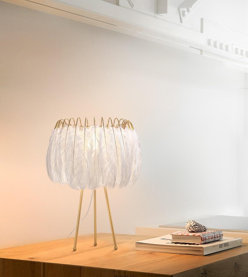Modern Floor Light Feather Nordic lights Lamp For Girl Bedroom Decor Living Room Stand lamps floor Lighting Fixture