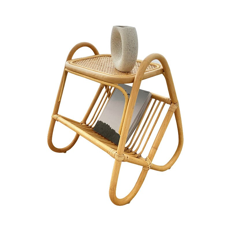 Side tables Simple style rattan storage small coffee table