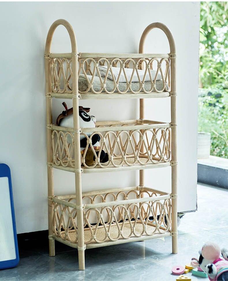 Book shelf simple and modern floor multi-layer storage rack