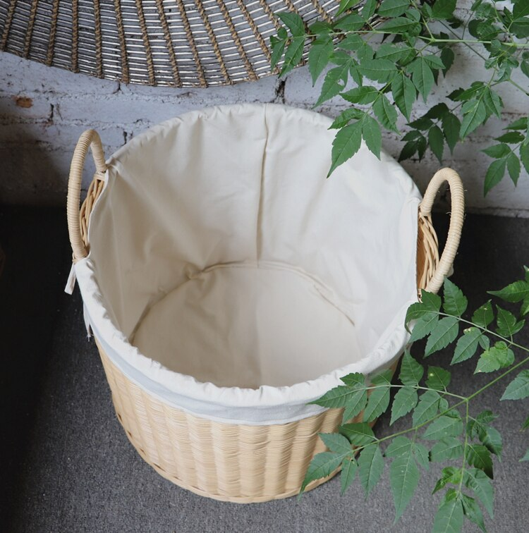 Laundry basket rattan storage basket woven from natural rattan dirty clothes basket