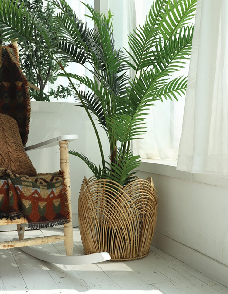 Plant basket Handmade rattan storage basket rattan woven basket for plants