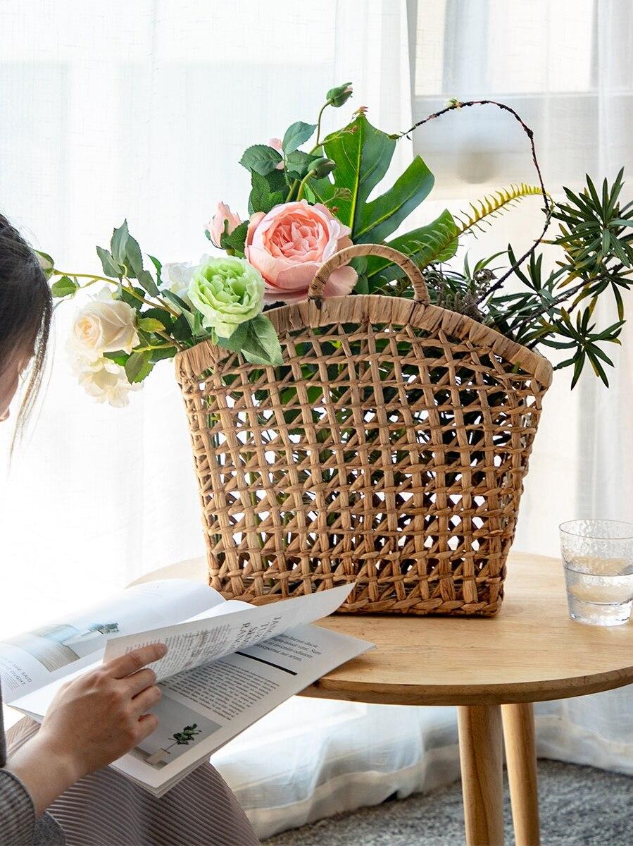 Rattan baskets Handmade rattan portable debris storage basket