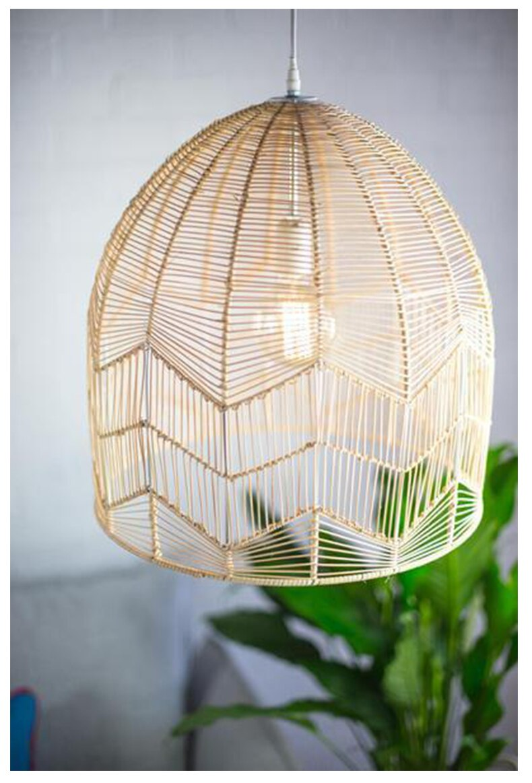 Southeast Asia handmade rattan pendant lampshae living room lamp cover