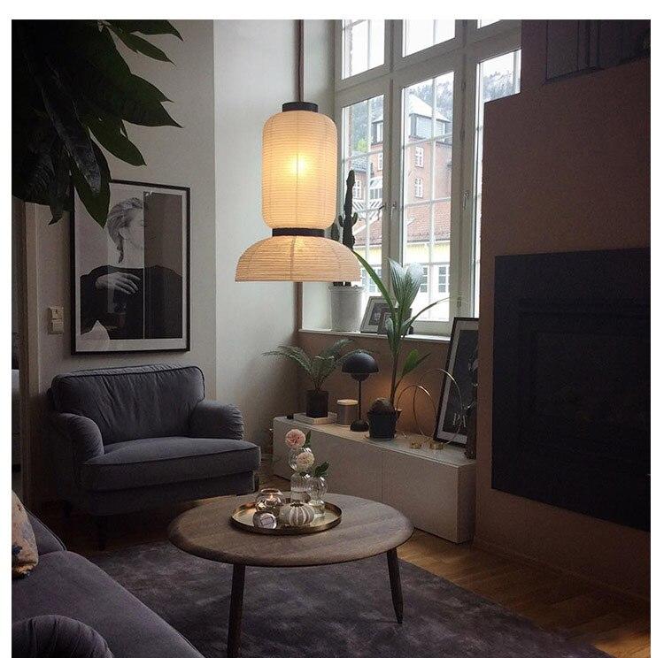 Rice paper lantern lamp shade kitchen living room pendant lamp cover