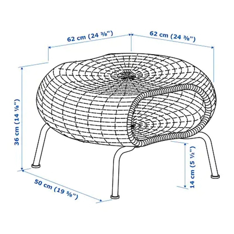 Coffee table hand-woven rattan storage stool side tables for sofa
