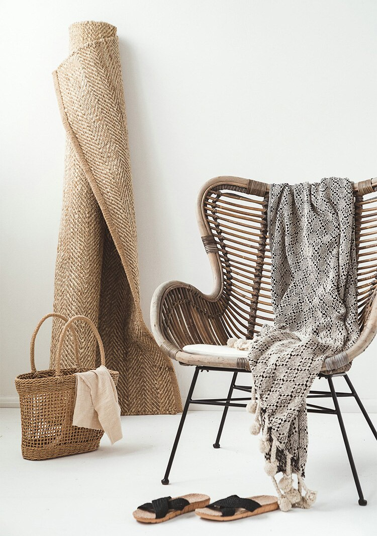 Handmade Rattan Lounge Chair