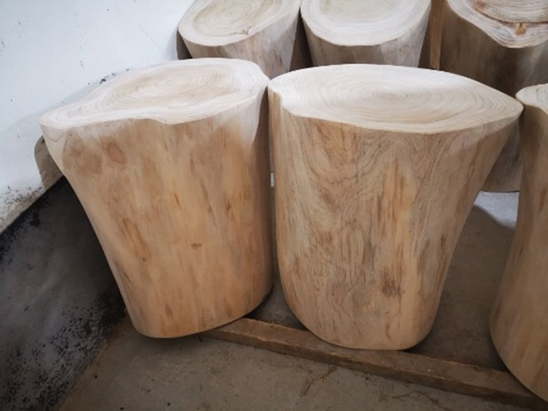 Coffee table Minimalist style fir cylindrical living room table