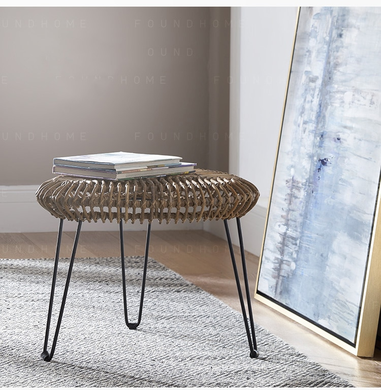Corner table Indonesian handmade rattan coffee table balcony small side table not included Glass countertops